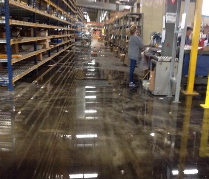 Commercial Water Damage in Farifield, Ohio Before
