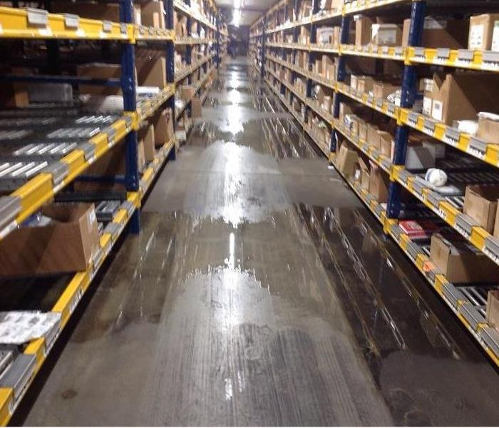 Water Damage to Commercial Property in Fairfield, Ohio Before