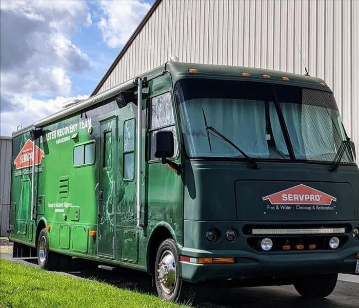 An RV with SERVPRO's Logo